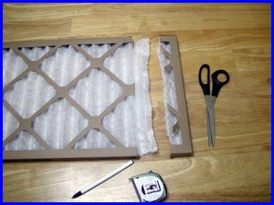 window fan filter cutting