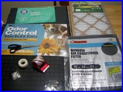 window fan filter material