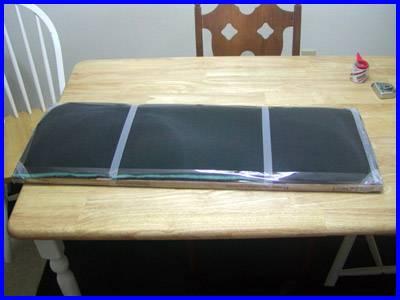 window fan filter taped
